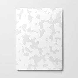 Large Spots - White and Pale Gray Metal Print