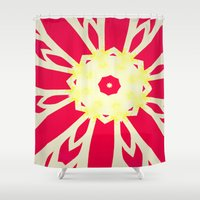 bow Shower Curtains featuring Christmas bow by Steve W Schwartz Art