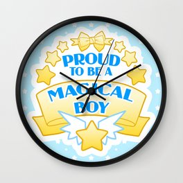Proud to be a Magical Boy Wall Clock
