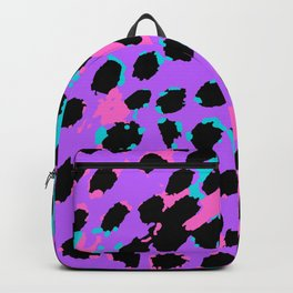 Cheetah Spots in Lavender, Blue and Pink Backpack