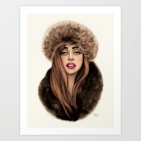 russian Art Prints featuring Russian Princess by Helen Green