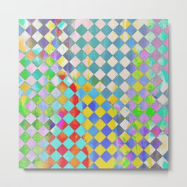 Color washed checkers Metal Print