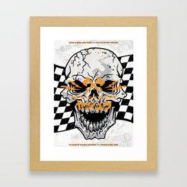 Death Valley Racers (Black Orange) Framed Art Print