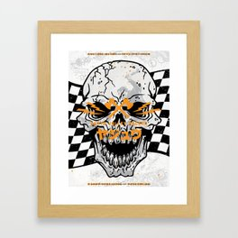 Death Valley Racers (Black Orange) Framed Art Print