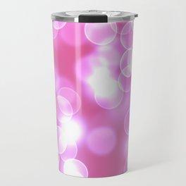 Pink Bokeh Travel Mug