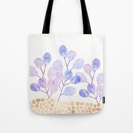 Bonsai Eucalytpus with Metallic Accents Tote Bag