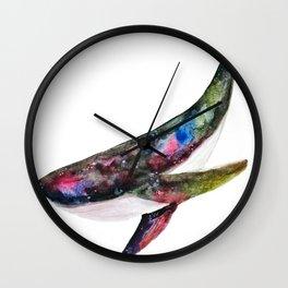 Cosmic Whale Wall Clock
