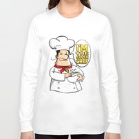 chef Long Sleeve T-shirts featuring The chef by dibujandovoy
