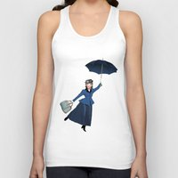mary poppins Tank Tops featuring Mary Poppins by Vannina