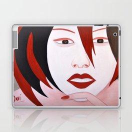 Chatting girl Laptop & iPad Skin