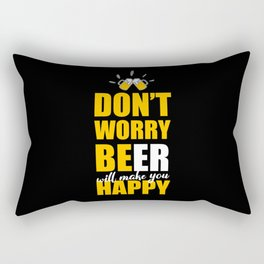 Funny Beer Saying Rectangular Pillow