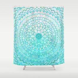 Ice Flower Mandala Shower Curtain