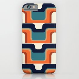 Mid-Century Modern Meets 1970s Orange & Blue iPhone Case