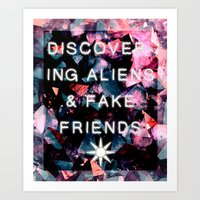 Fake Friends Art Print