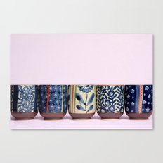 Japanese teacups Canvas Print
