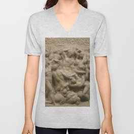 "Michelangelo ""Battle of the Centaurs"" Unisex V-Neck"
