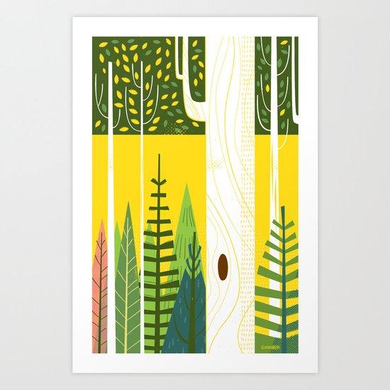 Joyful Trees Art Print