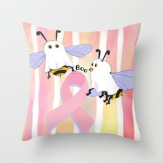 Flight of the Boobee Throw Pillow