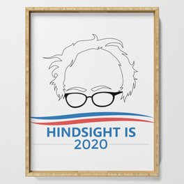 Bernie Sanders Head Hindsight Is 2020 Serving Tray