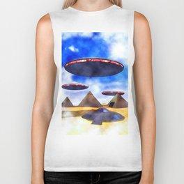 Ancient Aliens - UFO Pyramids Biker Tank