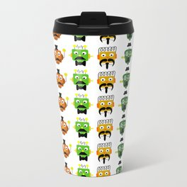Mustache Robots Metal Travel Mug