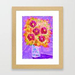 Little Sparkly Bouquet Framed Art Print