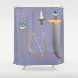 amateur weapons set Shower Curtain