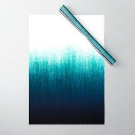 Teal Ombré Wrapping Paper