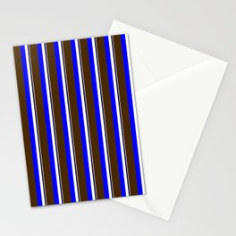 BLUE and DARK PURPLE STRIPES Stationery Cards