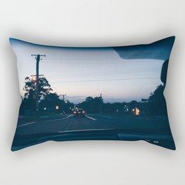 Driving into the sunset Rectangular Pillow