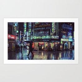 Tokyo Nights / Blade Runner Vibes / Rain / Liam Wong Art Print