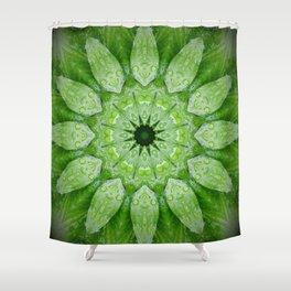 Green Mandala Plant Shower Curtain