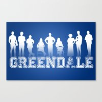 community Canvas Prints featuring Community - Greendale Community College by Jackdoc