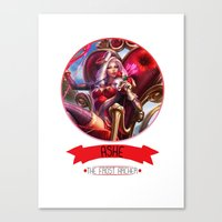 league of legends Canvas Prints featuring League Of Legends - Ashe by TheDrawingDuo
