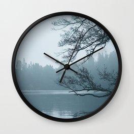 Misty lake Wall Clock