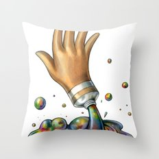 Hand of Color Throw Pillow