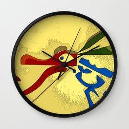 Icebox Dragon Wall Clock
