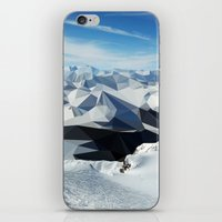 low poly iPhone & iPod Skins featuring low poly mountains by tony tudor