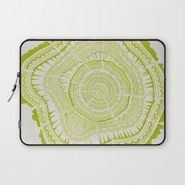 Lime Tree Rings Laptop Sleeve