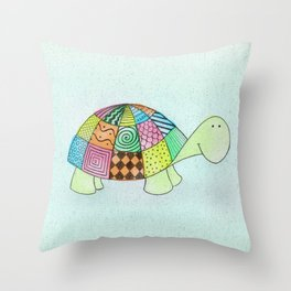 Little Claire's Turtle Throw Pillow