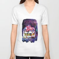 cake V-neck T-shirts featuring Cake by Andreea Maria Has