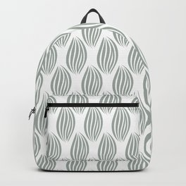 DECORATIVE BLOSSOM FLOWER LINES GREY WHITE  Backpack