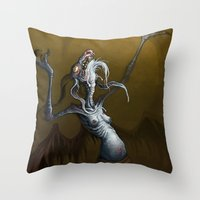 baphomet Throw Pillows featuring Baphomet by Ejay Basford