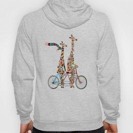 giraffe days lets tandem Hoodie