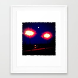 Lights on a Bridge Framed Art Print