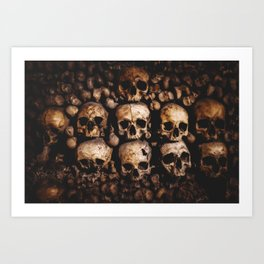 The catacombs of Paris Art Print