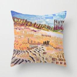 Beach Bums Welcome Throw Pillow