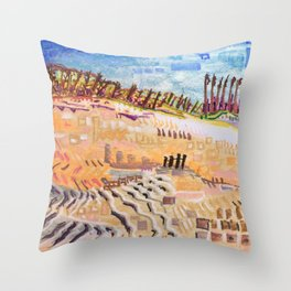 Beach Bums Welcome Throw Pillow