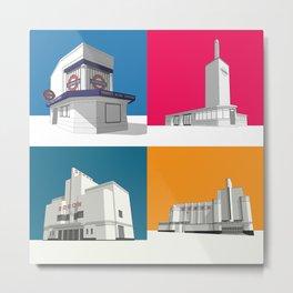 Art Deco Coasters Metal Print