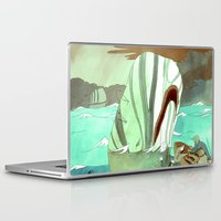 moby Laptop & iPad Skins featuring Moby Dick by Mary Slumber